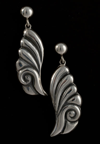 Baroque Leaf Drop earring