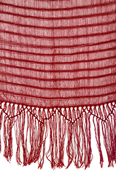 Red Cotton Handloomed Scarf