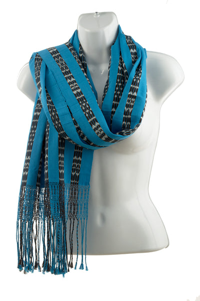 Blue, Black & White Scarf
