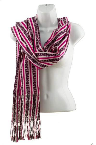 Magenta, White & Black Scarf