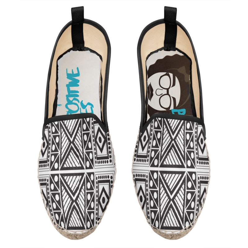 Geometric African print shoes