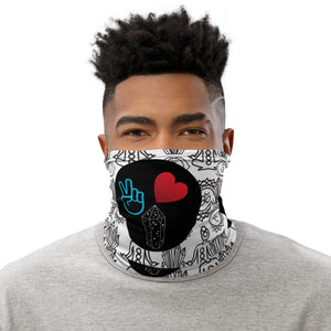 Peace, Love and Crystals Neck Gaiter