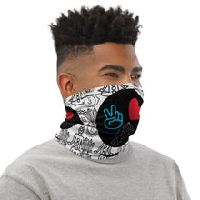 Load image into Gallery viewer, Peace, Love and Crystals Neck Gaiter