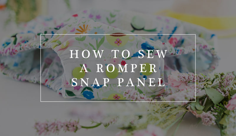 How to Sew a Snap Panel