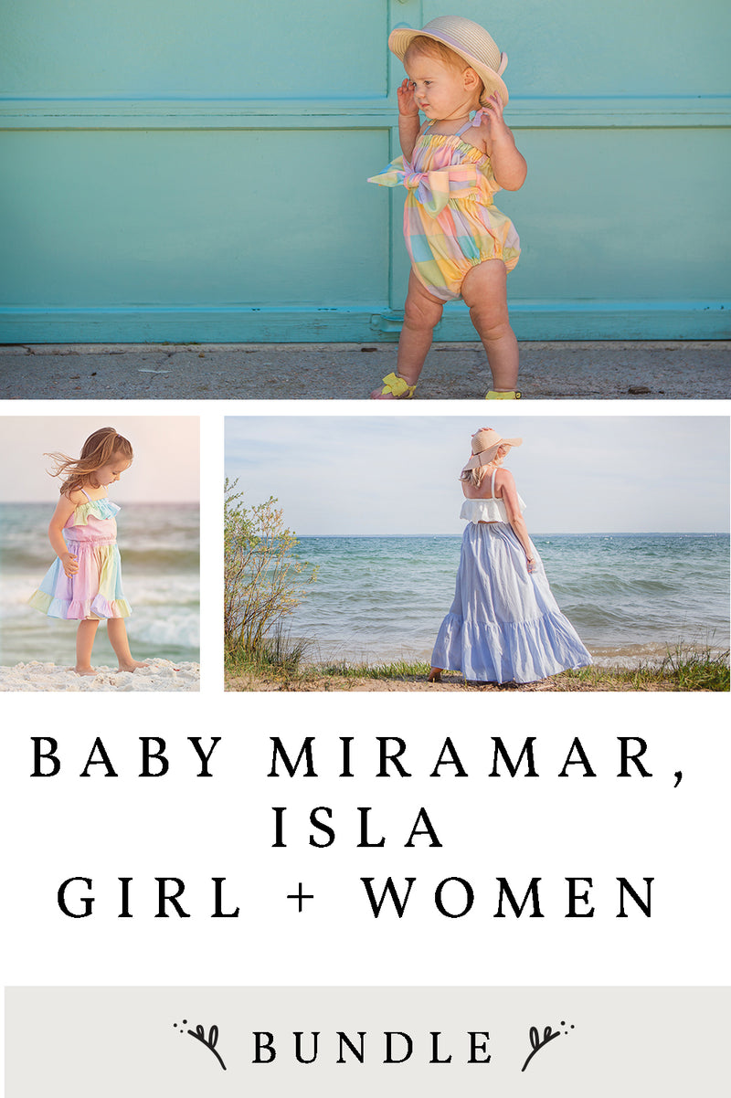 Miramar Baby, Isla Girl & Women 3 Pattern Bundle