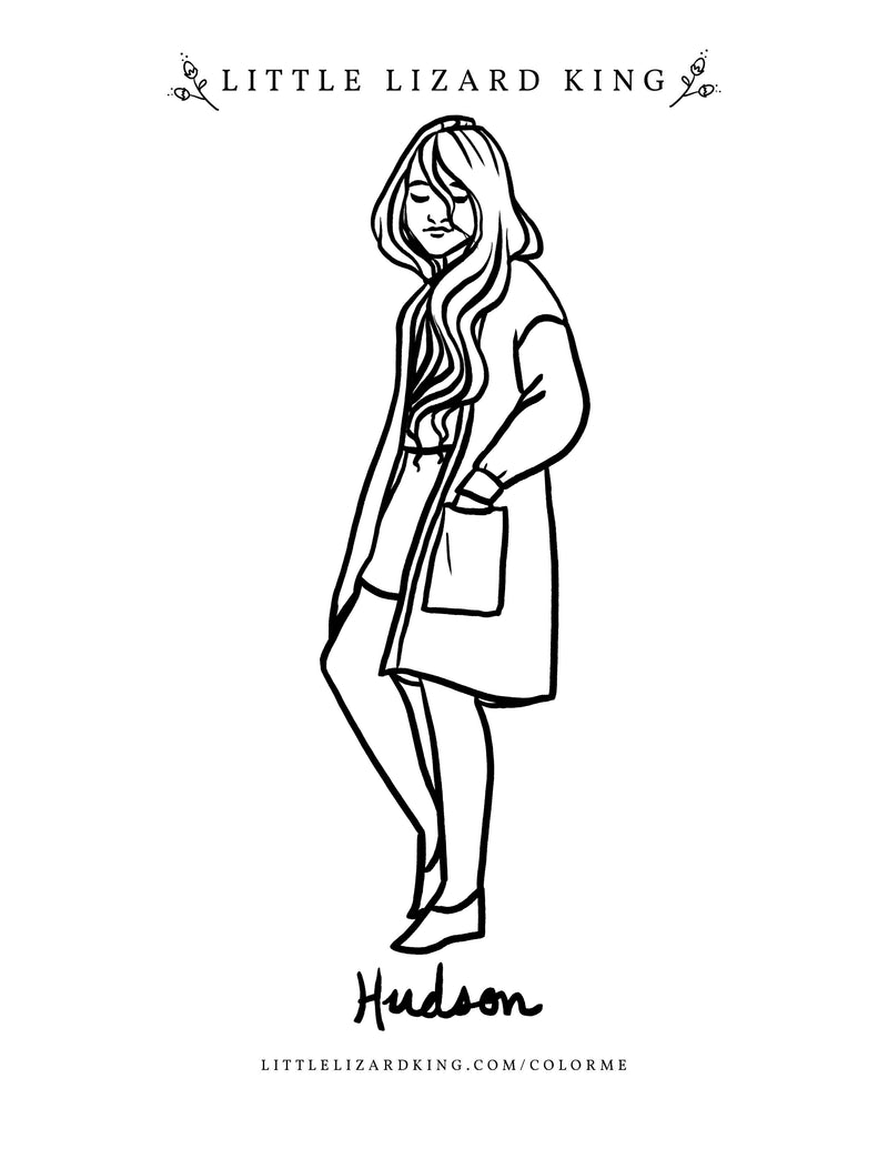 Hudson Girl Coloring Page