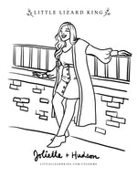 Hudson and Joliette Women Coloring Page