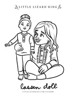 Lassen Doll Coloring Pge