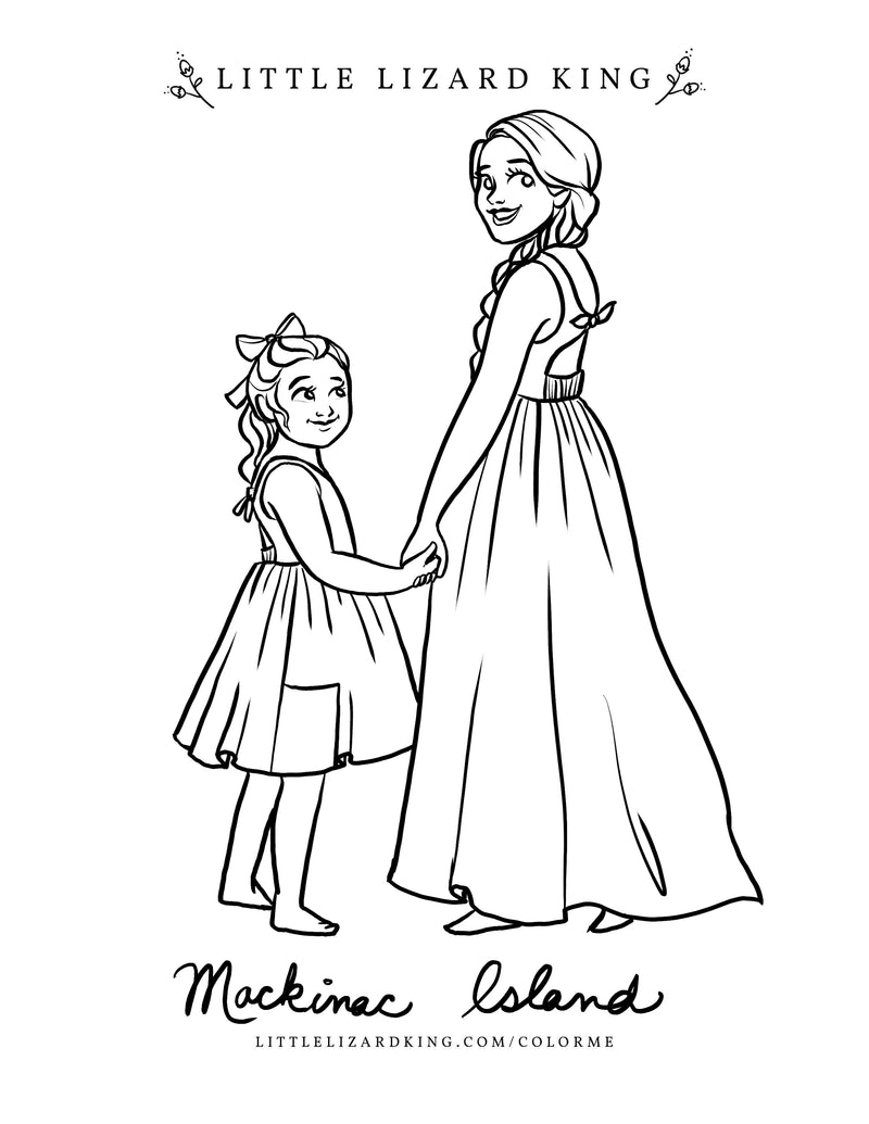 Mackinac Island Coloring Page