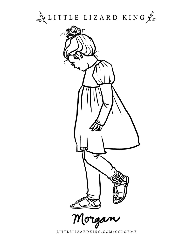 Morgan Coloring Page