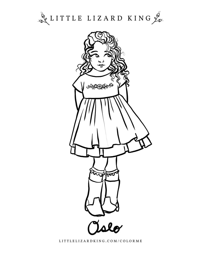 Oslo Coloring Page