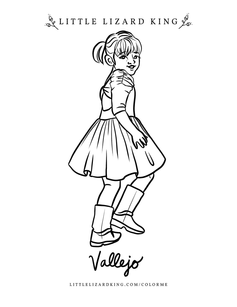 Vallejo Coloring Page