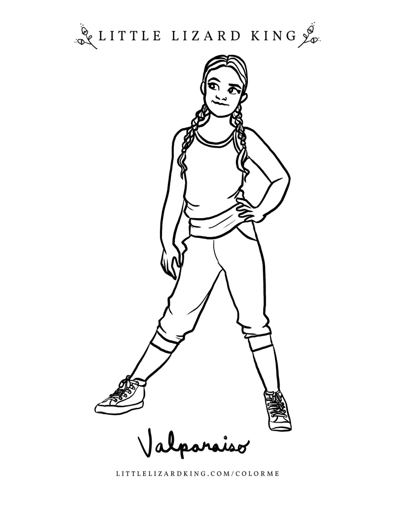Valparaiso Coloring Page