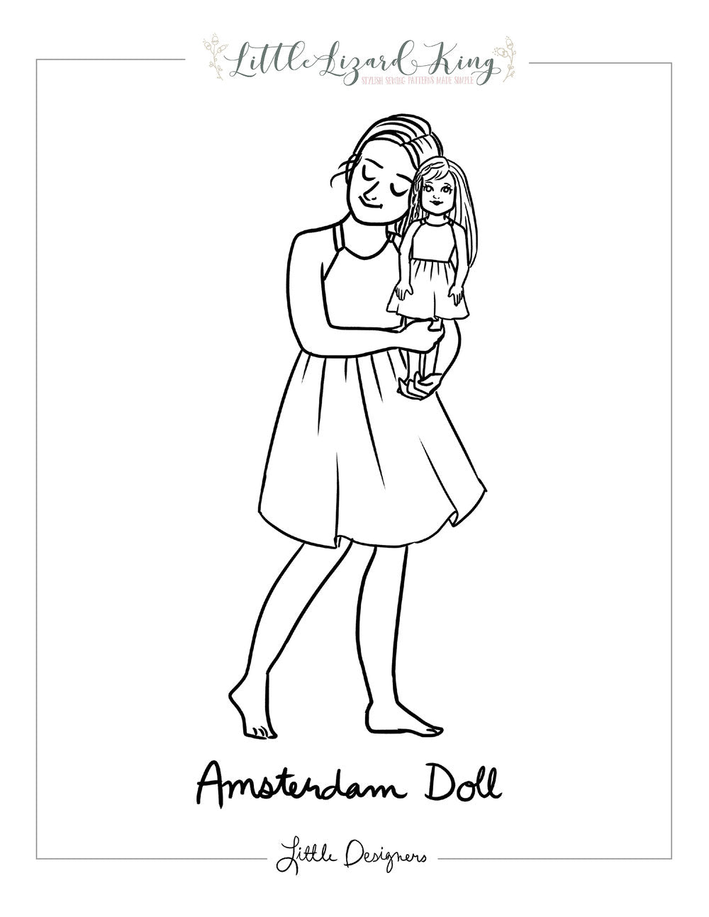 Amsterdam Doll Coloring Page