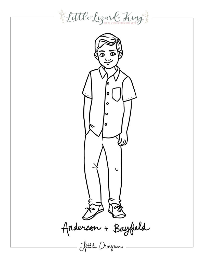Anderson and Bayfield Coloring Page