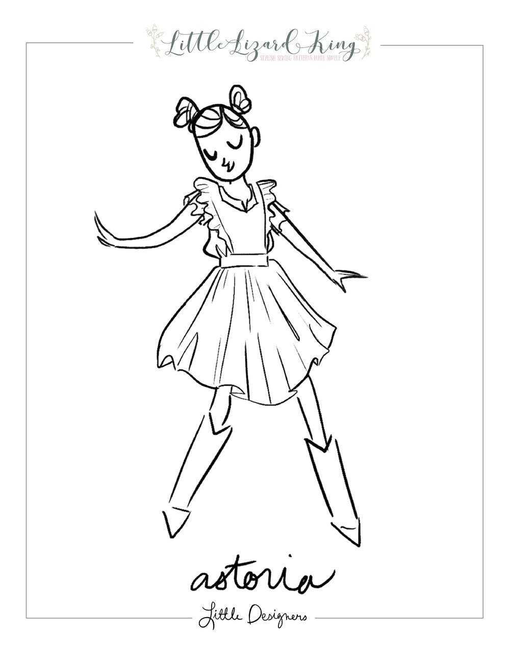 Astoria Pinafore and Blouse Coloring Page