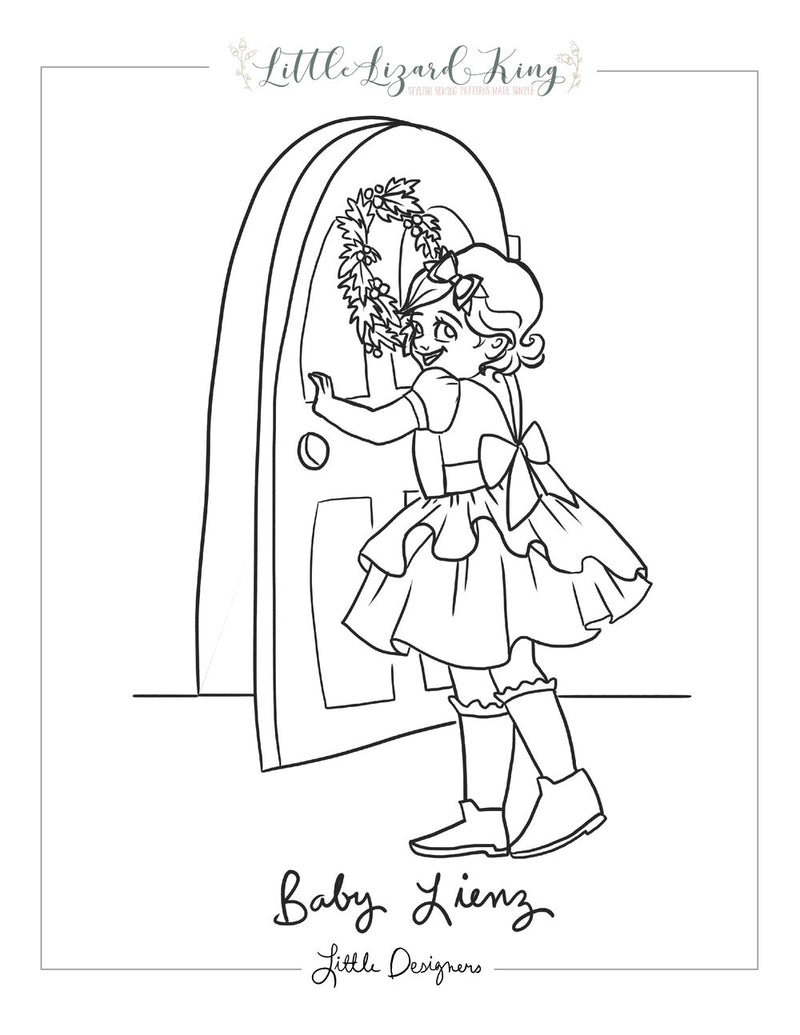 Lienz Baby Coloring Page