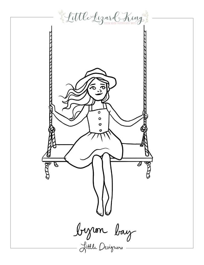 Byron Bay Dress Coloring Page