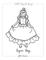 Byron Bay Top and Skirt Coloring Page