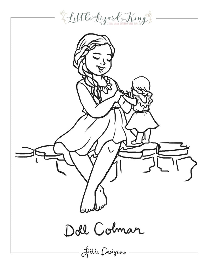 Colmar Doll Coloring Page