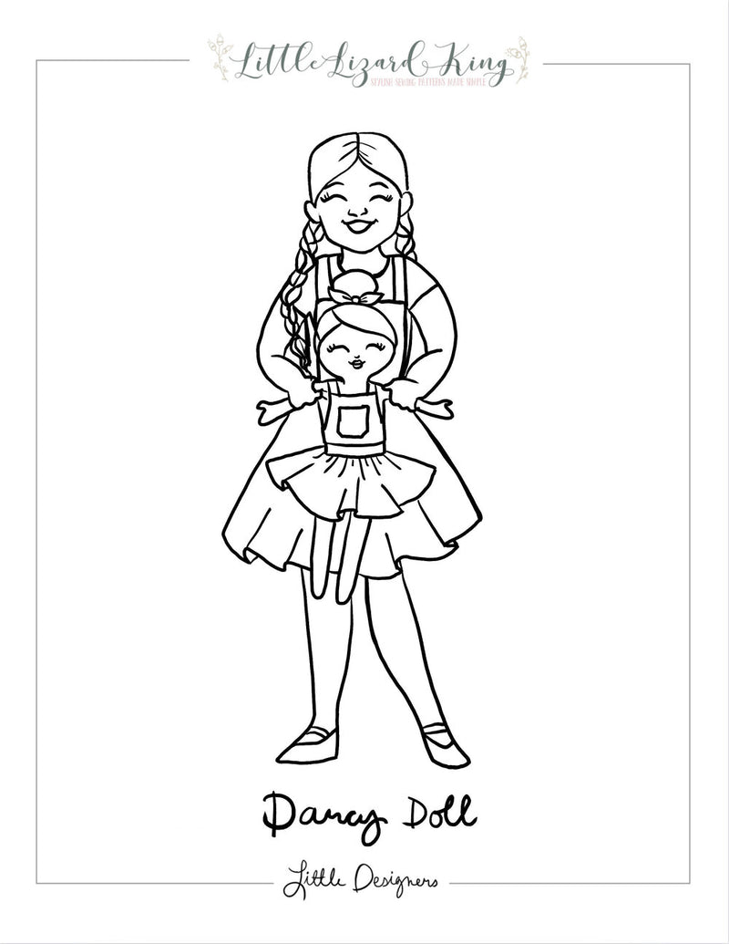 Darcy Doll Coloring Page