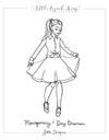 Day Dreamer and Montgomery Coloring Page