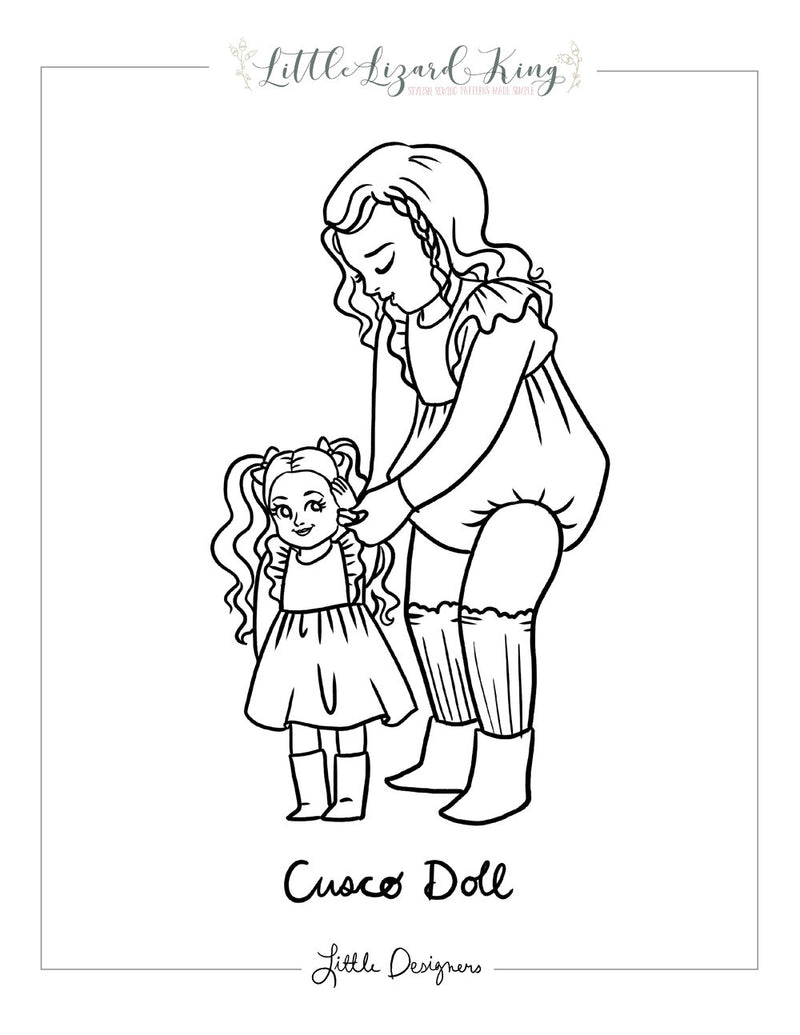 Cusco Doll Coloring Page