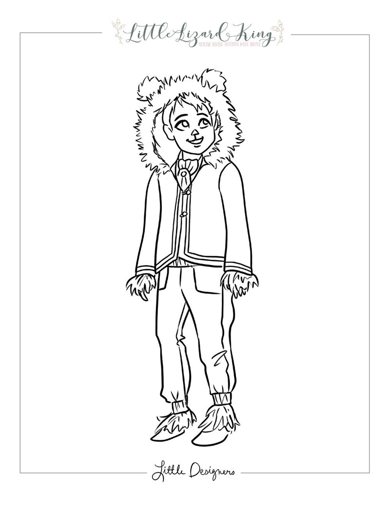 Fairytale Magic Beast Coloring Page