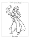 Fairytale Magic Jasmine Coloring Page