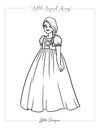 Fairytale Magic Rapunzel Coloring Page