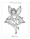 Fairytale Magic Tinker Bell Coloring Page