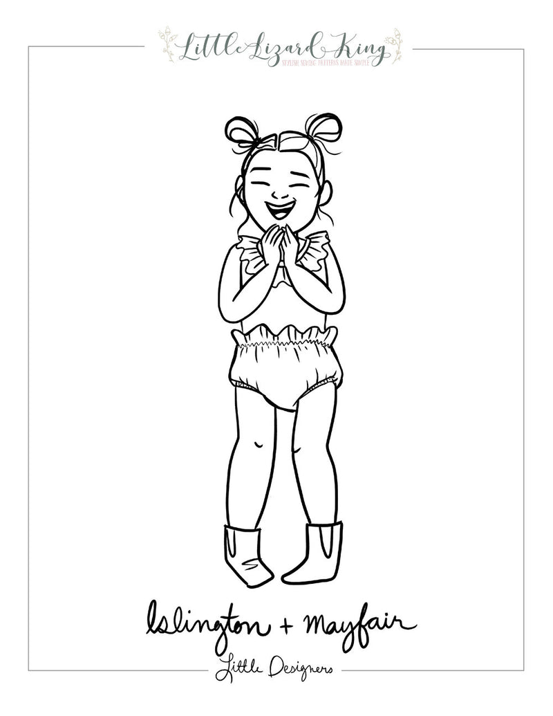 Islington and Mayfair Coloring Page
