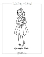 Kensington Doll Coloring Page