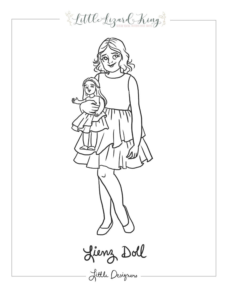 Doll Lienz Coloring Page