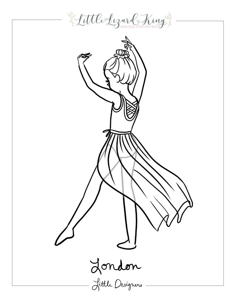 London Leotard Coloring Page
