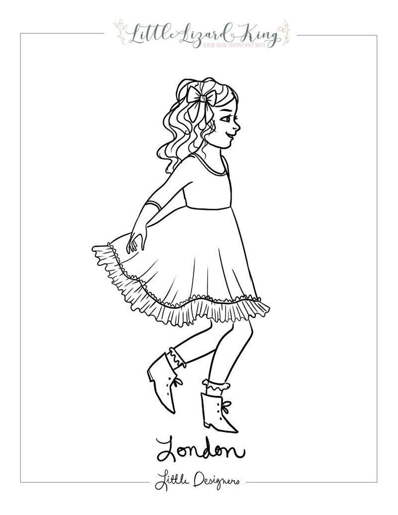 London Dress Coloring Page