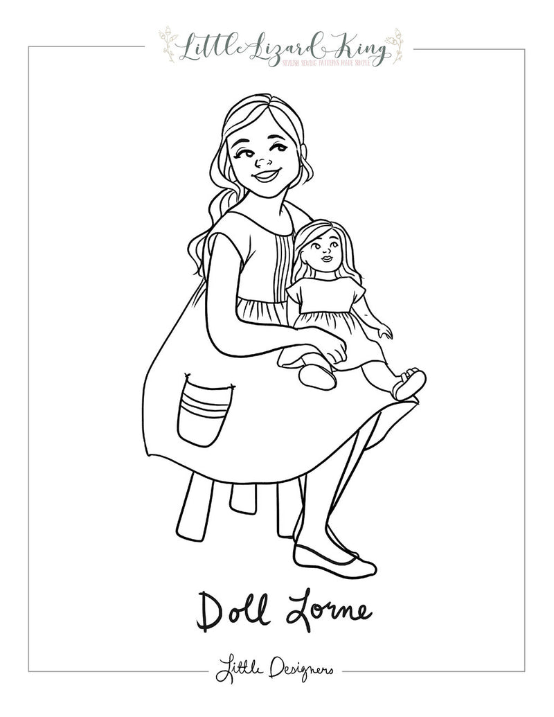 Lorne Doll Coloring Page