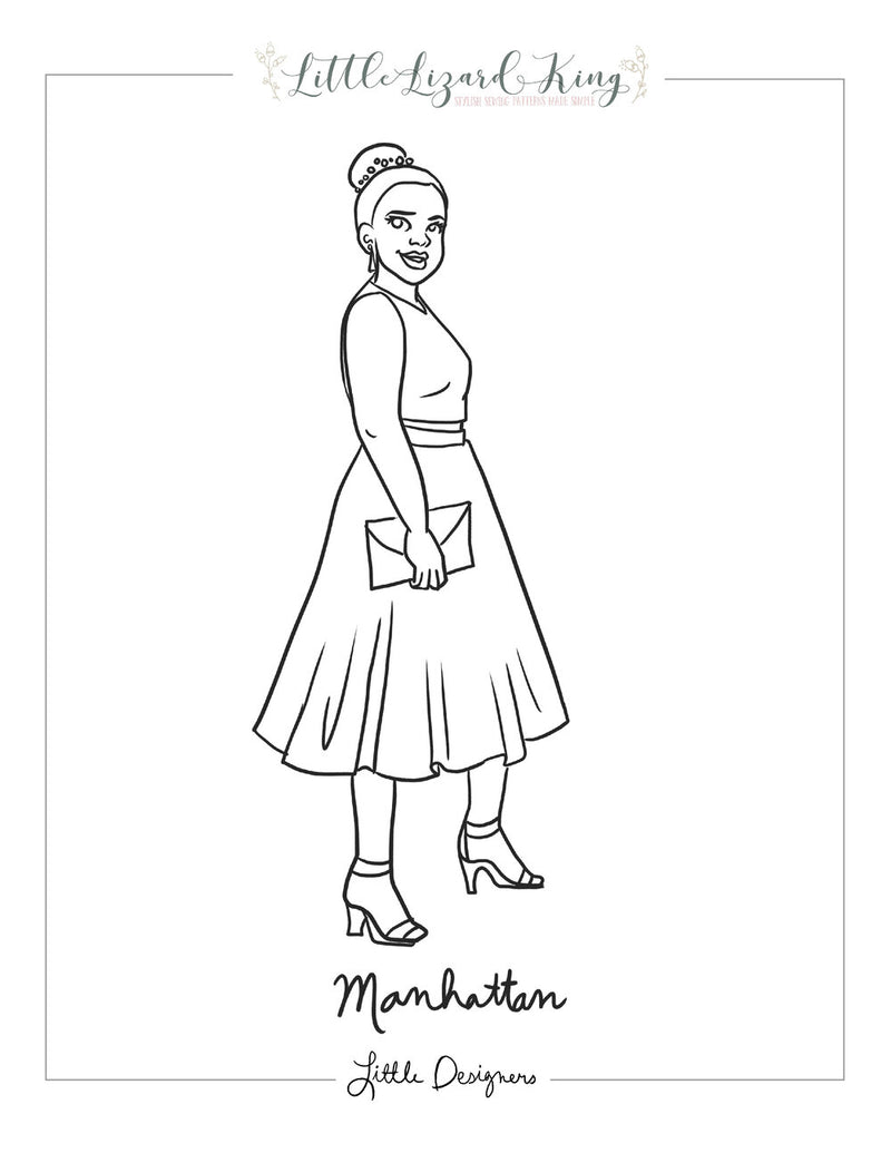Women's Manhattan Coloring Page
