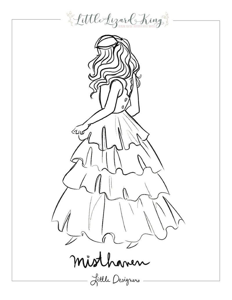 Misthaven Tiered Dress Coloring Page