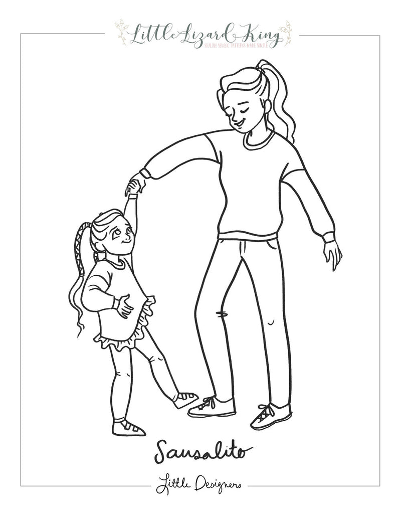 Sausalito Women Coloring Page