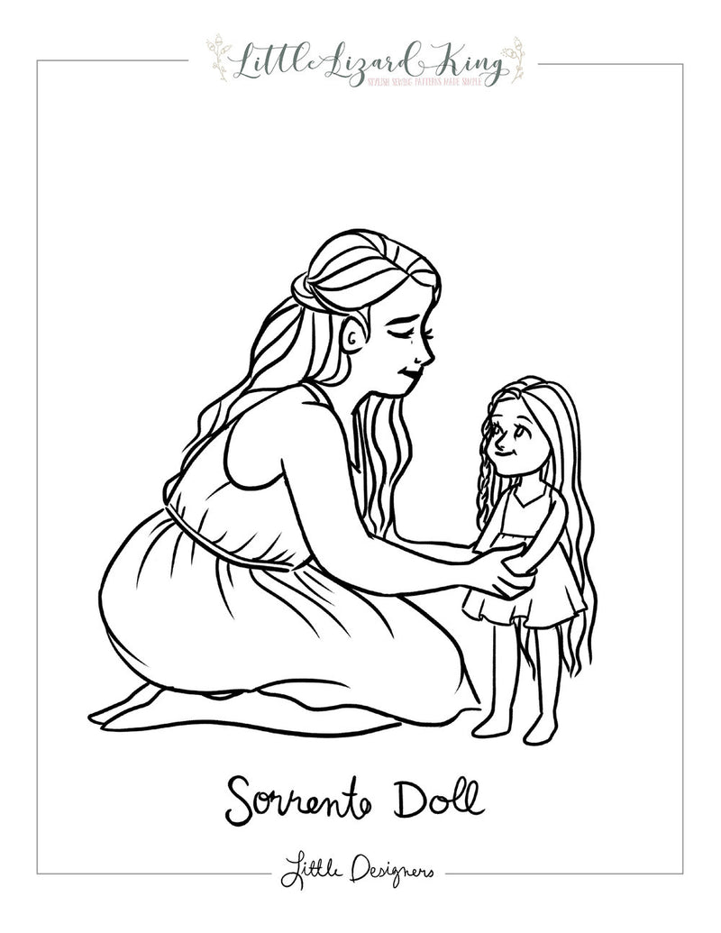 Sorrento Doll Coloring Page