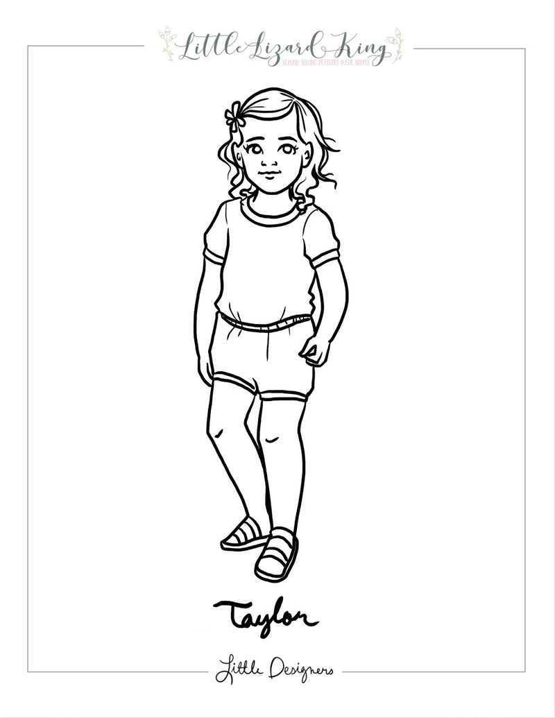 Taylor Baby Coloring Page