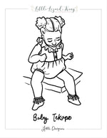 Tekapo Baby Coloring Page