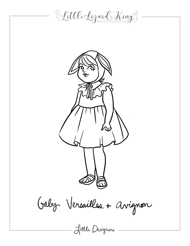 Avignon and Baby Versailles Coloring Page