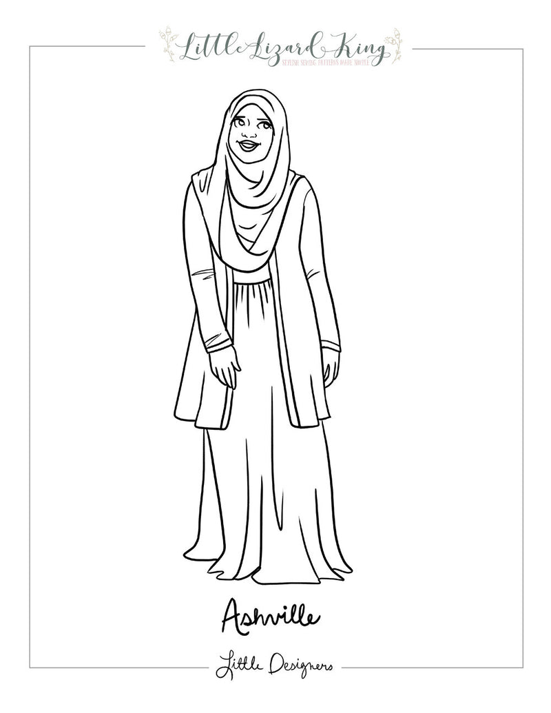 Asheville Women Coloring Page