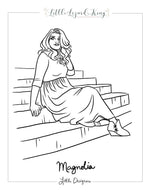 Magnolia Women Coloring Page