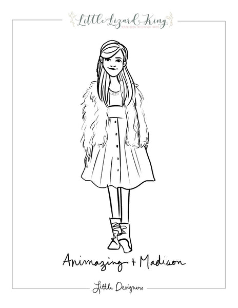 Animazing Suspender Skirt and Madison Coloring Page