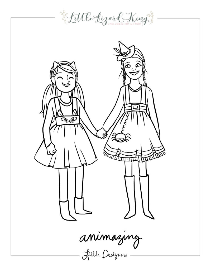Animazing Halloween Coloring Page