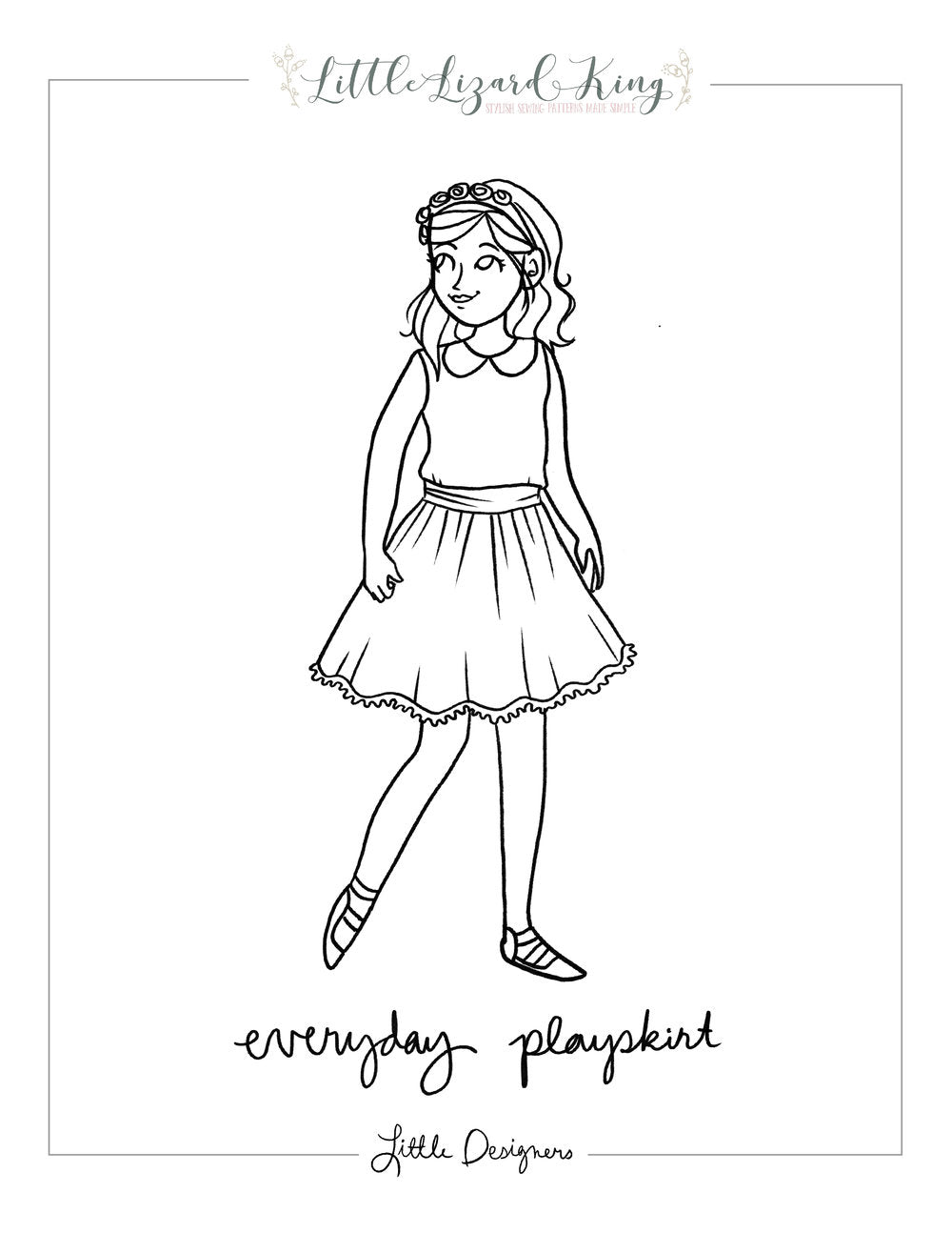 Everyday Play Skirt Coloring Page