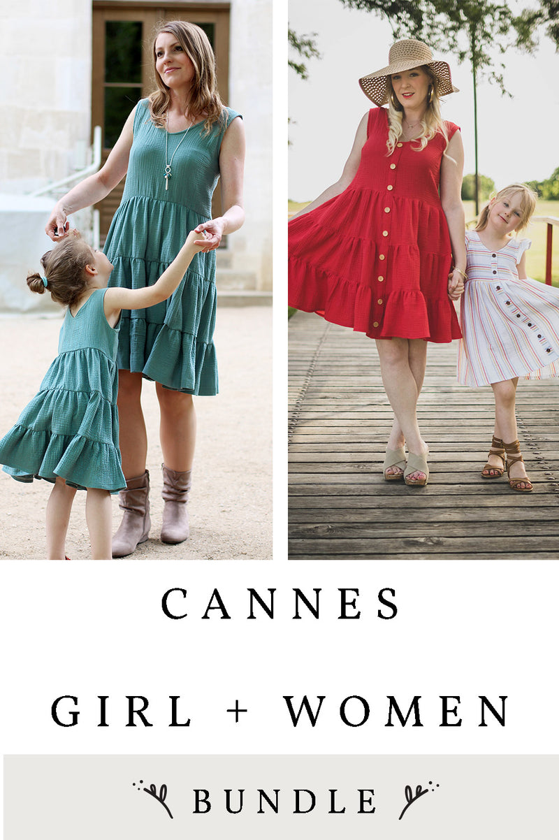 Cannes Girl and Women 2 Pattern Bundle